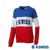 K-SWISS Round Sweat Shirts圓領長袖上衣-女-藍