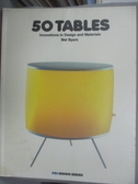 【書寶二手書T1/設計_WDU】50 Tables-Innovations in Design and..._Rotovision sa