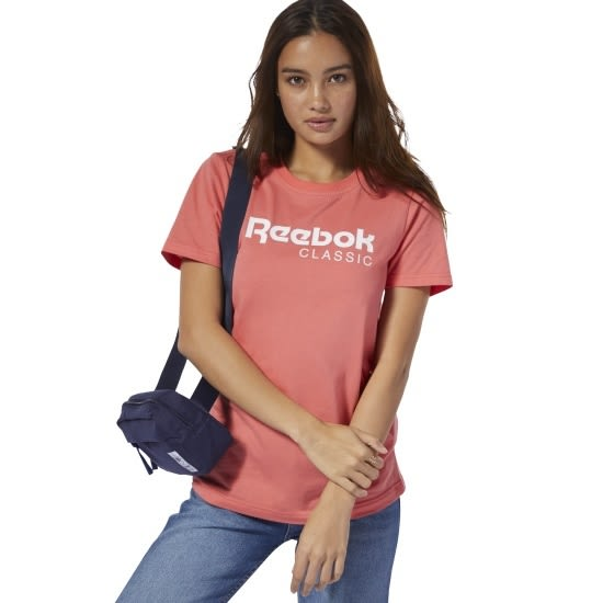 REEBOK CLASSICS 女裝 短袖 休閒 舒適 純棉 柔軟 粉 【運動世界】 DT7228