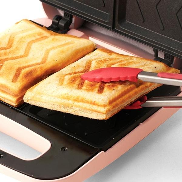 爍寧三明治早餐機雙盤家用小型熱壓神器多功能輕食機吐司烤面包機 夢幻小鎮「快速出貨」