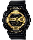 CASIO 卡西歐 G-SHOCK 金色狂派變形金剛 限量數位休閒錶GD-100GB-1DR