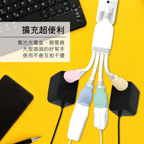 ◆KINYO 耐嘉 SDL204 1對4可轉向安全電源線組 分離式電源線 延長線 轉接電源線 插頭 插座 台灣製