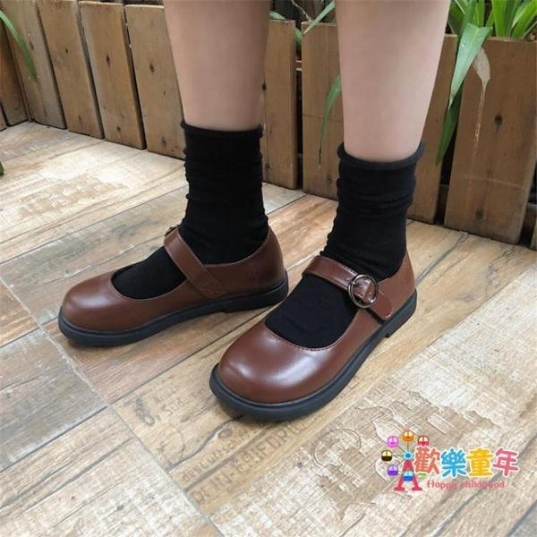 皮鞋 森女系小皮鞋女復古英倫風學生韓版百搭軟妹黑色淺口皮鞋 2色 交換禮物