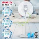 SANLUX台灣三洋 14吋DC遙控立扇 風扇 EF-P14DH 手提式頂端控制