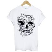 Skull Bird Tree短袖T恤 3色 骷髏鳥樹街頭文化滑板潮設計插畫刺青搖滾韓t-shirt390 Gildan