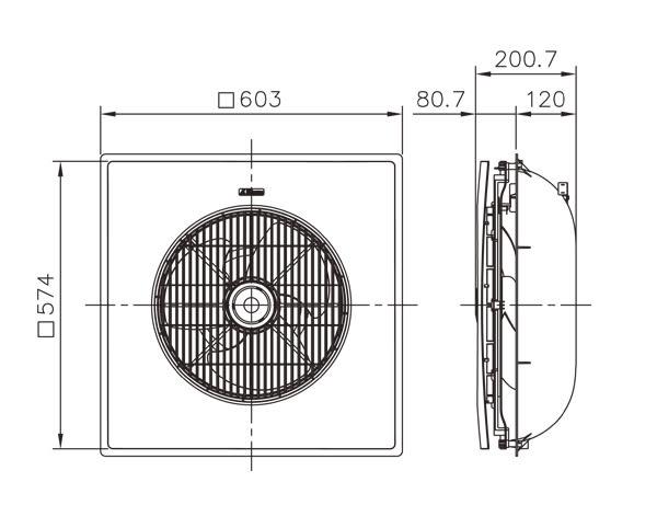 阿拉斯加 輕鋼架/天花板 節能循環扇 SA-398-220V