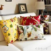 中式抱枕靠墊中國風大號靠枕床頭家用正方形布藝沙發抱枕套不含芯 好再來小屋