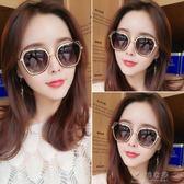 2018韓版新款墨鏡女潮圓臉偏光太陽鏡眼鏡明星同款復古原宿風     俏女孩