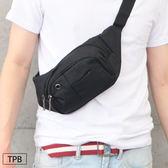[潮流堂 ]  實用隨身型三層帆布腰包腰掛包附耳機孔0090625