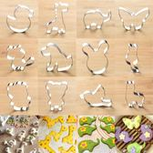 不銹鋼手工卡通動物饅頭模具聖誕翻糖餅干切立體寶寶輔食烘焙工具