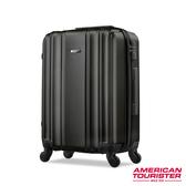 AT美國旅行者24吋Hartford極簡立體硬殼四輪TSA行李箱(黑)