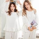 超柔壓花絨、睡衣褲、兩件式、內睡衣、冬季睡衣、居家服