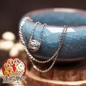 銀鈴之珠 精刻轉運球項鍊 含開光 臻觀璽世 IS4376