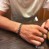 歐美復古男士鈦鋼手鍊冷淡風韓版個性學生手環手飾潮男朋克男手鐲 道禾生活館