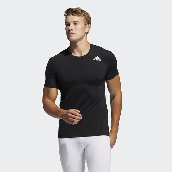 Adidas TECHFIT 男裝 短袖 訓練 壓縮 吸濕排汗 拼接網布 黑【運動世界】GM5037