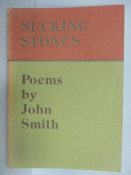 【書寶二手書T6/文學_QCA】Sucking Stones_John Smith