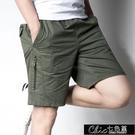 兩件裝短褲男夏季五分褲休閒大碼薄款5分沙灘褲純棉中老年爸【全館免運】