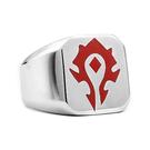 《 QBOX 》FASHION 飾品【RBR-R442】精緻個性部落標誌鑄造鈦鋼戒指/戒環