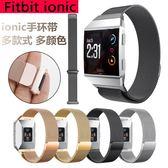 Fitbit ionic 錶帶 不銹鋼 米蘭尼斯 時尚運動 磁力扣 自動磁力吸附 腕帶 替換帶 替換錶帶