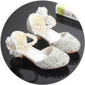 女童涼鞋 女童公主鞋高跟小皮鞋鋼琴表演出女孩配禮服裙單鞋兒童走秀水晶鞋 米蘭shoe