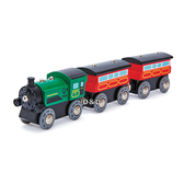 【免運費】《 德國 Hape 愛傑卡 》 Hape 軌道系列 - 連結火車 ( 綠 ) ╭★ JOYBUS玩具百貨