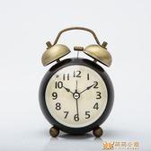 鬧鐘鬧鐘創意學生床頭鐘裱擺件靜音時鐘復古機械鬧裱臥室小台鐘     萌萌小寵