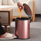 歐式 垃圾桶 家用 客廳 臥室 衛生間 廚房 創意有蓋大號不鏽鋼腳踏式帶蓋  降價兩天