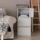 樂嫚妮 收納櫃 木門櫃-附門-木紋白色-...
