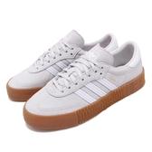 adidas 休閒鞋 Sambarose W 灰 白 膠底 金標 鬆糕鞋 厚底增高鞋 女鞋【PUMP306】 CG6250