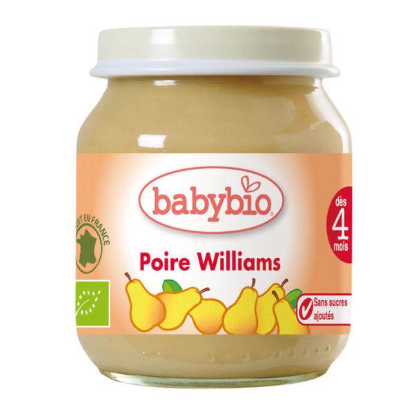BABYBIO 有機洋梨鮮果泥130ml (4個月以上適用)