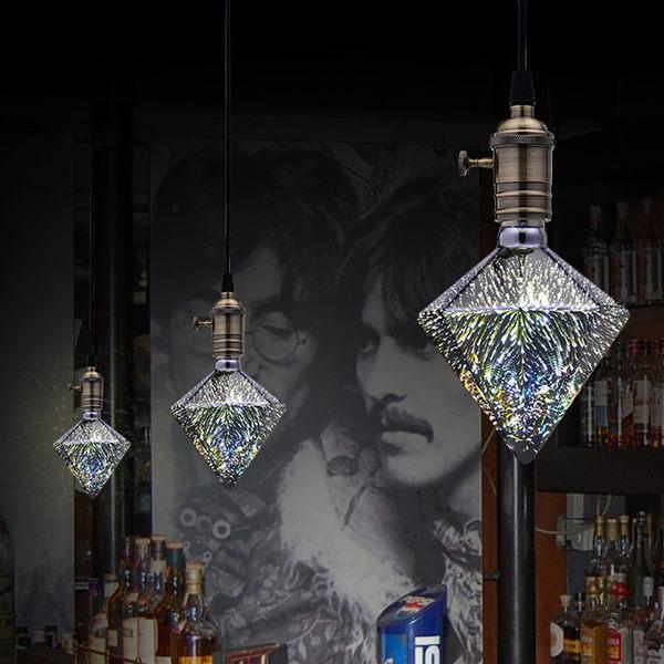 聖誕節裝飾品 LED 3D 裝飾鑽石燈泡 慶典裝飾必備 401