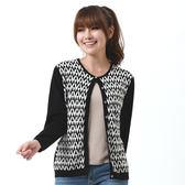 闕蘭絹  精品厚磅蠶絲針織外套-7705(黑)
