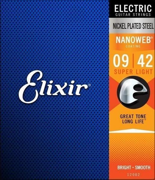 ☆唐尼樂器︵☆ Elixir NANOWEB 12002 (09-42) 薄膜 防鏽鍍膜 電吉他弦