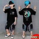 男童套裝兒童裝男童夏裝套裝新款帥氣夏天韓版男孩夏季短袖網紅洋氣潮 快速出貨