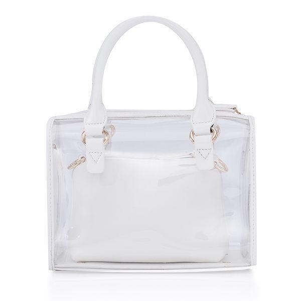 芭比公主系列 透明防水印花斜挎單肩手提子母沙灘包