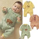 長袖連身衣 秋冬寶寶嬰兒動物圖案 包屁衣 W61017