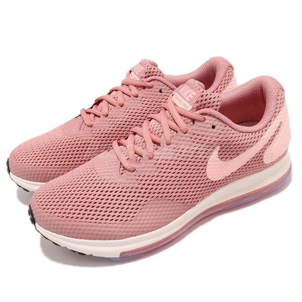 Nike 慢跑鞋 Wmns Zoom All Out Low 2 二代 粉紅 白 全氣墊 女鞋 運動鞋【PUMP306】 AJ0036-604