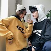 韓版ulzzang原宿風bf冬裝酷帽T女潮學生寬鬆加絨情侶班服ins外套