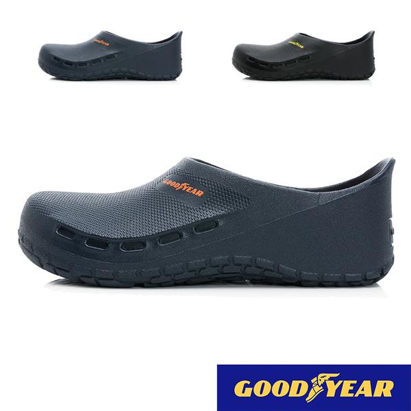 男款 GOODYEAR固特異 13600 台灣製造鞋底橡膠超強止滑片防水防油 荷蘭鞋 廚師鞋 工作鞋 雨鞋 59鞋廊