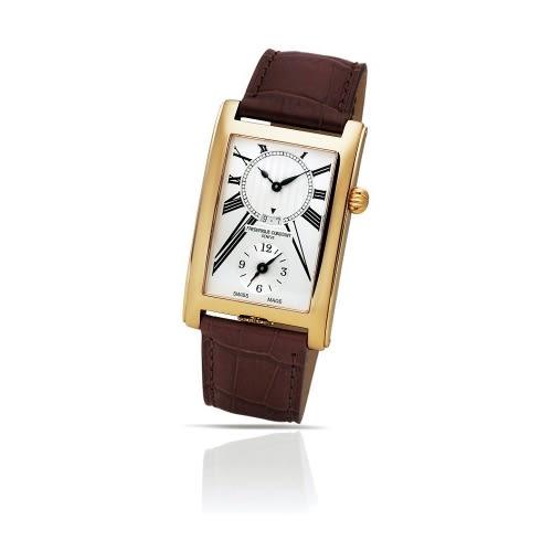 CONSTANT 康斯登/Carree二地時間顯示手腕錶/FC-205MS4C25