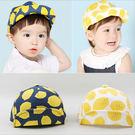 檸檬小童寶寶鴨舌帽 棒球帽 防曬帽 遮陽帽 (帽前緣有軟鐵絲可上翻定型) 橘魔法 Baby magic 兒童