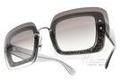 MIU MIU 太陽眼鏡 MU01R UES4R2 (銀-漸層藍) 歐美時尚潮流大框款 # 金橘眼鏡