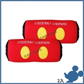 【愛車族】DISNEY WDC163 米奇頸靠墊(紅)-2入 迪士尼系列