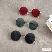 墨鏡 韓國chic原宿風眼鏡女復古金屬圓框太陽鏡圓臉網紅時尚墨鏡潮 店慶降價