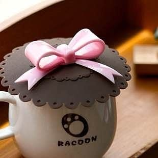 【發現。好貨】生活創意 蝴蝶結防漏杯蓋 矽膠杯蓋 萬能密封杯蓋 多用杯蓋