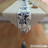中式禪意餐桌桌旗現代簡約復古棉麻布藝茶桌茶席電視櫃茶幾桌布 印象家品