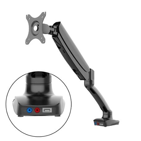 【耀偉】@樂歌Loctek D5 USB3.0版本 人體工學▶ 電腦螢幕支架▶高強度航空鋁材壓鑄▶快易鎖夾持安裝