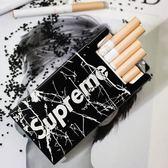 北歐風大理石紋ins潮牌20支裝金屬鋁制創意便攜自動防壓密封煙盒