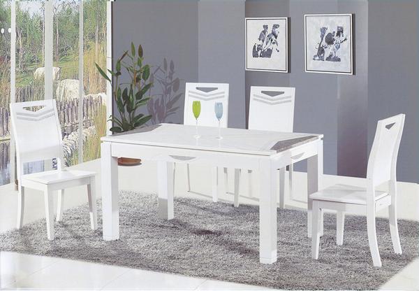 【 IS空間美學】克洛莉餐桌椅組(一桌六椅)