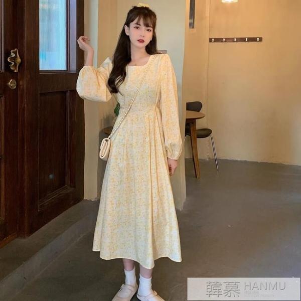 長袖洋裝女秋冬2020新款春秋季碎花法式氣質長裙收腰顯瘦裙子裝 女神購物節